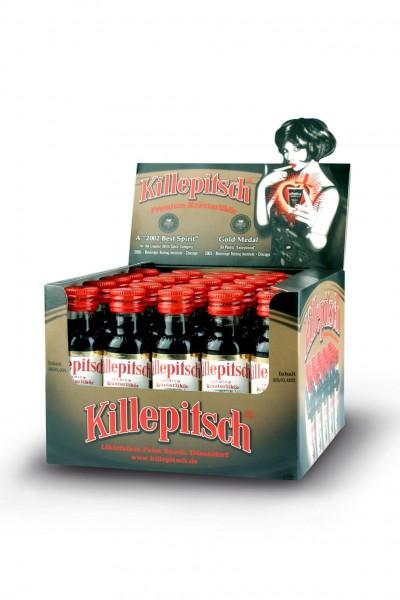 Killepitsch 42% - Premium Kräuterlikör Display 25 x 0,02 Ltr.