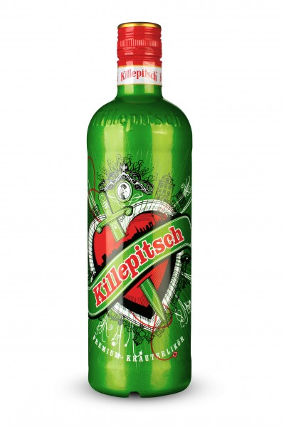 Killepitsch 42% - Premium Kräuterlikör Design 2016 Green 0,35 Ltr.