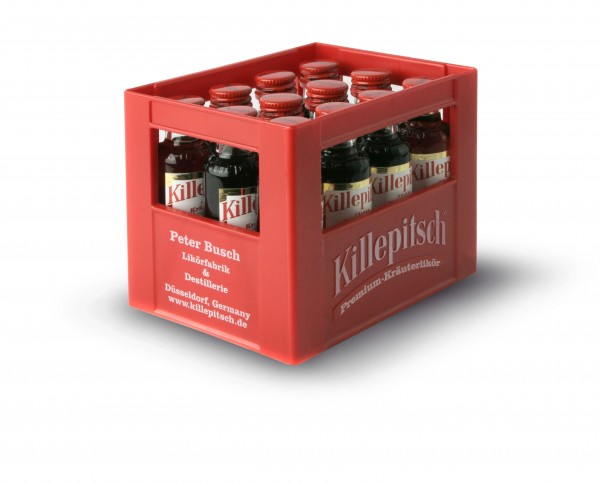 Killepitsch 42% - Premium Kräuterlikör im Partykästchen 12 x 0,02 Ltr. Fl.