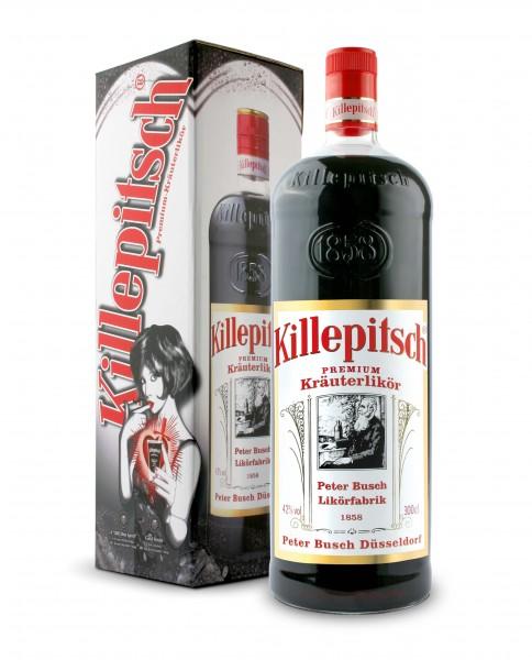 Killepitsch 42% - Premium Kräuterlikör 3 Liter in Geschenkpackung